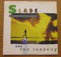 "SLADE Run Runaway 1984 UK 7"" VINYL SINGLE IN PICTURE SLEEVE NODDY HOLDER"