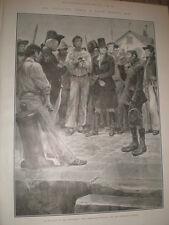 Nei giorni della stampa gang R Caton Woodville 1905 Old print