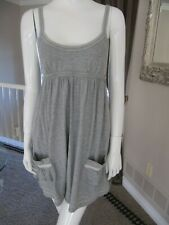 VICTORIA SECRET PINK * Gray Cover Up Dress  2 Pockets * Empire Waist Size Small