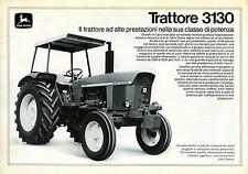 """PUBBLICITA' WERBUNG """"JOHN DEERE : TRATTORE 3130"""" IL trattore ad alte prestazioni"""