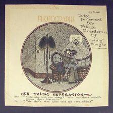 Cartoon Drawing by Irving Breger 1926 Art Deco Era, Pen & Ink