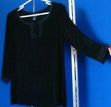 EUC Gorgeous BAY STUDIO Traveler TOP Lace Trimmed ACETATE & Spandex USA Made MP