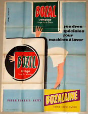 Original French 1950s/1960s Bozal Trempage & Lavage poster