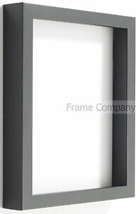 Radcliffe Range Deep Black Wooden 3D Box Frame Choice of 7 Colour Backing Boards