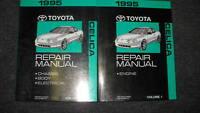 1995 TOYOTA CELICA Service Repair Shop Manual Set OEM 2 VOLUME BOOK SET