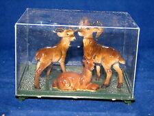 Vtg Hard Plastic Bighorn Sheep Family Figurine Set Hong Kong Never Opened NIB