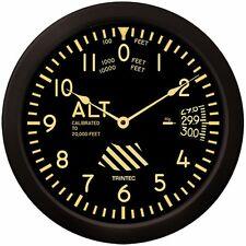 "Trintec Massive 14"" Aviation Vintage Altimeter Wall Clock 9060v-14 Aviatrix"