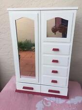 AMERICAN GIRL MOLLY'S RARE  RETIRED MIRRORED WHITE WARDROBE CHIFFONIER