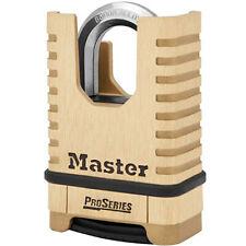 Master Lock Shrouded Brass Proseries Resettable Combination Padlock 1177d