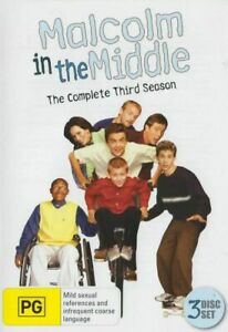 Malcolm in the Middle : Complete Season 3 DVD (SET) Series Three Third - RARE