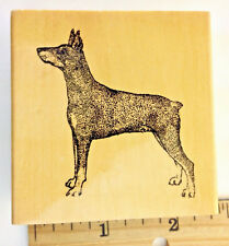 Doberman Pinscher Dog Profile Canine Puppy Pose Ears Up Rubber Stamp Gallery