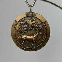 Vtg Jostens 1982 World Championship Quarter Horse Show Medal Award Medallion(A5)