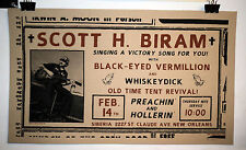 Scott H Biram gig poster New Orleans Whiskey Dick Black Eyed Vermillion blues