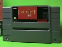 Final Fantasy II (Super Nintendo Entertainment System, 1991) With Repro Case