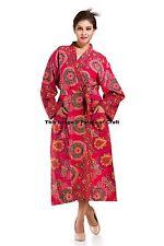 Indian Mandala Sexy Bath Robe Hippie Cotton Kimono Casual Swimwear Dress Wedding