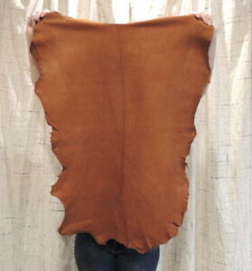 ACORN BUCKSKIN Leather Hide for Native Crafts Taxidermy Bags Laces Flute Bags