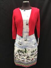 CHETTA B DRESS/NEW WITH TAG/SIZE 16/BOLERO INCLUDED/LINED/RETAIL$169