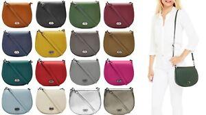 Handbag Bliss Small Italian Leather Saddle Cross Body Shoulder Bag