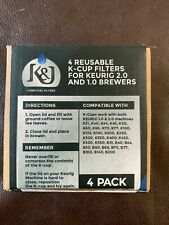 K&J Reusable K-Cups Compatible with Keurig 1.0 & 2.0 Machines (4-Pack