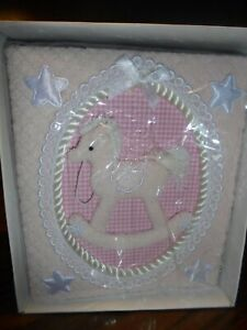 "Vtg PRINZ 'Pride & Joy' Photo Album Pink Rocking Horse Holds 100 4""x 6"" Pics  92"