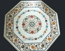 Pietra Dura art Handmade Coffee Table Top Marble Center Table Top Size 27 Inches