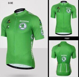 NEW Short Sleeve Men's Tour de France Cycling Jersey Breathable sz Large (L)