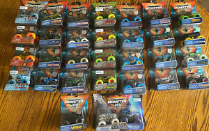 MONSTER JAM Spin Master Monster Trucks LOT of 31 Colored Wheels Rare & exclusive