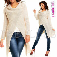 Unbranded Acrylic Solid Poncho Jumpers and Cardigans for Women