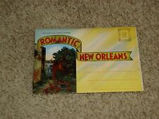 (J) Vintage Romantic New Orleans Postcard Folder, New Orleans, Louisiana