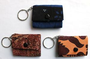 Key Rings Batik Red Orange Blue