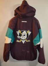 Rare Vintage 90s Starter Anaheim Mighty Ducks Pull Over Hooded Jacket Mens XL