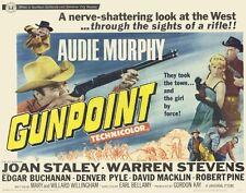 GUN POINT Movie POSTER 22x28 Half Sheet Audie Murphy Joan Staley Warren Stevens