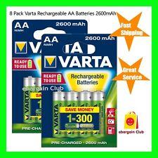 Varta AA 2600 mAh Rechargable Batteries 8 Pack eBargainClub