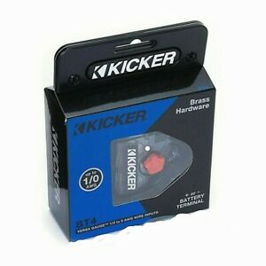 2019 Kicker 46BT4 Positive/Negative Power Battery Terminal 0/1-8 Ga Gauge 3 Out