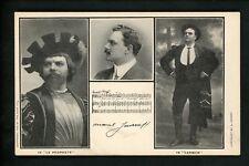 Opera Postcard Operatic Rose Co.1906 Marcel Journet Carmen Le Prophete Costumes