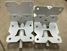 Vinyl and Wood Fence Gate Kit 1 Pack Latch 2 Pack Self-Closing Hinges Stainless