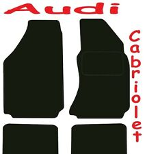 Tailored Deluxe Quality Car Mats Audi A4 Cabriolet 2000-2005 * Black Convertible
