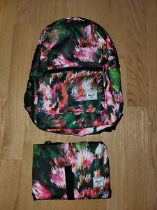 Herschel Settlement Sprout Diaper Backpack With Change Pad Pixel Floral