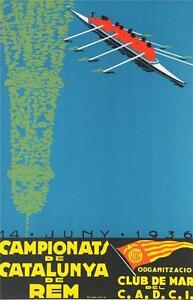 Campionats de Catalunya de Rem Poster Fine Art Lithograph Camiro S2