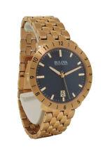 Bulova Accutron II 97B130 Men's Round Black Analog Date Rose Gold Tone Watch