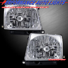 1998-2000 TOYOTA TACOMA 2WD 4WD HEADLIGHTS CHROME EURO CLEAR LENS BULBS INCLUDED