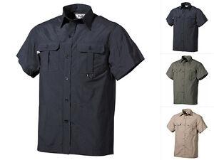 FoX Outdoor Outdoorhemd Kurzarm S-XXL Microfaser Freizeithemd Herrenhemd