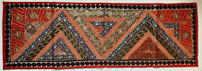 Embroidered Sequin Tapestry Wall Hanging Table Bed Runner 150x50cm Recycled Sari
