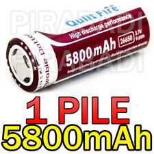 1 PILE ACCU RECHARGEABLE BATTERIE 26650 5800mAh 3.7V Li-ion BATTERY