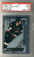 "(1.CARD) DANIEL ALFREDSSON 1995-96 TOPPS FINEST ROOKIE ""w/ Coating"" #116 PSA 9"