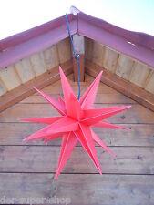 Adventsstern Faltstern 50 cm Außenstern Weihnachtsstern 15 zackig ROT + 4m Kabel