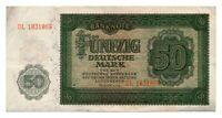 EAST GERMANY banknote 50 DEUTSCHE MARK 1948. VF++