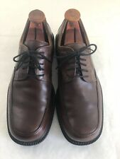 Men's ECCO City Shock Point Brown Leather Oxford Shoes Size 12 - 12.5 US