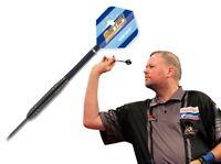 Black Steel Dart Dartpfeile Darts van Barneveld Barney  Flights