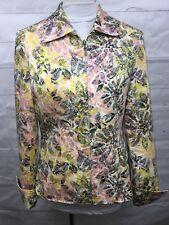 Pinky & Dianne, floral jacket, womens sz MED, Pink